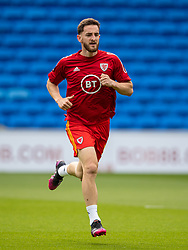 CARDIFF, WALES - Saturday, June 5, 2021: Wales' Tom Lockyer during the pre-match warm-up before an International Friendly between Wales and Albania at the Cardiff City Stadium in their game before the UEFA Euro 2020 tournament. (Pic by David Rawcliffe/Propaganda)