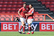 Goal - Marlon Pack (21) of Bristol City celebrates scoring a goal to make the score 1-1 during the EFL Sky Bet Championship match between Bristol City and Hull City at Ashton Gate, Bristol, England on 21 April 2018. Picture by Graham Hunt.