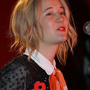London, England,UK. 4th Nov 2016: Speaker Deputy Mayor for Culture and Creative, Justine Simons at the Mayor reveals Amy Lame as UK first-ever Night Czar at 100 Club,London,UK. Photo by See Li