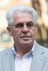 © Licensed to London News Pictures. 01/04/2014. London, UK. @Licensed to London News Pictures. 01/04/2014. London, UK. Publicist, Max Clifford arrives at Southwark Crown Court in London on 1st April 2014. Clifford appears charged with 11 counts of indecent assault after being arrested as part of the Metropolitan Police's Operation Yewtree. Photo credit: Vickie Flores/LNP.