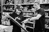 Tony Hawk visits Metallica headquarters in San Rafael, CA.