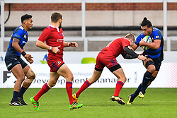 Hendrik Tui of Japan evades the tackle of Daniil Potikhanov of Russia <br /> <br /> Photographer Craig Thomas<br /> <br /> Japan v Russia<br /> <br /> World Copyright ©  2018 Replay images. All rights reserved. 15 Foundry Road, Risca, Newport, NP11 6AL - Tel: +44 (0) 7557115724 - craig@replayimages.co.uk - www.replayimages.co.uk