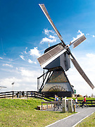 View of one the Kinderdijk Windmills, The Netherlands.