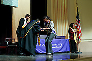 SHOT 5/10/15 3:15:44 PM - Naropa University Spring 2015 Commencement ceremonies at Macky Auditorium in Boulder, Co. Sunday. Parker J. Palmer, a world-renowned author and activist known for his work in education and social change, delivered the commencement speech to more than 300 graduate and undergraduate students along with Naropa faculty and graduate's family members. Naropa University is a private liberal arts college in Boulder, Colorado founded in 1974 by Tibetan Buddhist teacher and Oxford University scholar Chögyam Trungpa. (Photo by Marc Piscotty / © 2014)