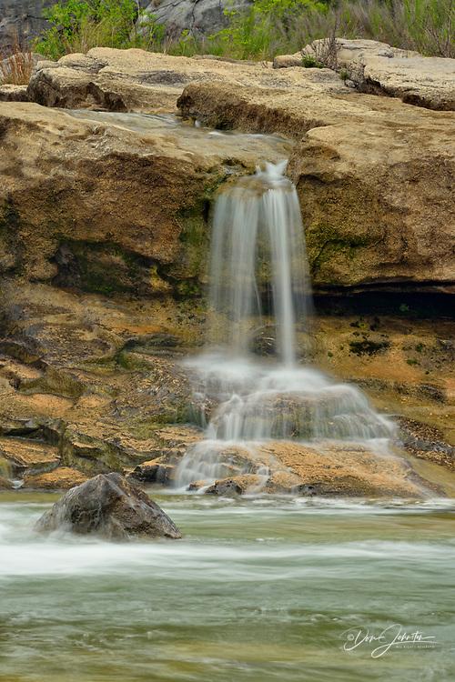 Waterfalls on the Pedernales River, Pedernales Falls State Park, Texas, USA