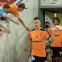 BRISBANE, AUSTRALIA - OCTOBER 7: Matt McKay of the Roar enters the field during the round 1 Hyundai A-League match between the Brisbane Roar and Melbourne Victory at Suncorp Stadium on October 7, 2016 in Brisbane, Australia. (Photo by Patrick Kearney/Brisbane Roar)