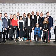 NLD/Rotterdam/20180124 - Openingsfilm IFFR 2018,  premiere Jimmy, gehele cast van de film Jimmie
