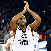 Anadolu Efes's Alfred Jamon Lucas during their Euroleague Top 16 game11 basketball match Anadolu Efes between Brose Baskets at the Abdi Ipekci Arena in Istanbul at Turkey on Thursday, March, 14, 2013. Photo by Aykut AKICI/TURKPIX
