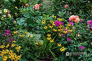 Floral display at Hastings House Resort in Ganges, British Columbia, Canada