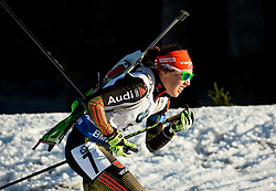Laura Dahlmeier (GER)  during Women 12.5 km Mass Start at day 4 of IBU Biathlon World Cup 2015/16 Pokljuka, on December 20, 2015 in Rudno polje, Pokljuka, Slovenia. Photo by Vid Ponikvar / Sportida