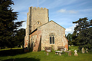 Church of St Mary, Bawdsey, Suffolk, England. The tower dates from the medieval period when the church was much larger.