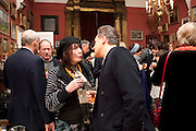 PETER YORK; HENRIETTA GARNETT, Party to celebrate the publication of Animal Magic by Andrew Barrow. Tite St. London. 28 February 2011.  -DO NOT ARCHIVE-© Copyright Photograph by Dafydd Jones. 248 Clapham Rd. London SW9 0PZ. Tel 0207 820 0771. www.dafjones.com.
