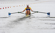 Poznan, POLAND, 21st June 2019, Friday, Morning Heats, SWE2 M1X, Eskil  BORGH, FISA World Rowing Cup II, Malta Lake Course, © Peter SPURRIER/Intersport Images,<br /> <br /> 12:17:06