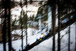 Ski jumper during Large Hill Individual Qualification Event at 2nd day of FIS Ski Jumping World Cup Finals Planica 2014, on March 21, 2014 in Planica, Slovenia. Photo by Grega Valancic / Sportida