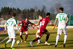 Žan Rogelj of Triglav during Football match between NK Triglav and NK Olimpija Ljubljana in 22nd Round of Prva liga Telekom Slovenije 2018/19, on March 9, 2019, in Sports centre Kranj, Slovenia. Photo by Vid Ponikvar / Sportida
