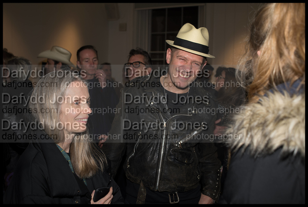 PAULINE DALY; PAUL SIMONON, Private view, Paul Simonon- Wot no Bike, ICA Nash and Brandon Rooms, London. 20 January 2015