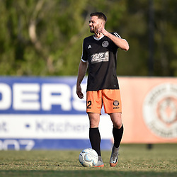 BRISBANE, AUSTRALIA - NOVEMBER 7: James Meyer warms up during the friendly match between Eastern Suburbs FC and Brisbane Roar FC at Heath Park on November 7, 2020 in Brisbane, Australia. (Photo by Patrick Kearney)