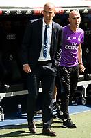 Real Madrid's coach Zinedine Zidane during a match of La Liga Santander at Santiago Bernabeu Stadium in Madrid. September 10, Spain. 2016. (ALTERPHOTOS/BorjaB.Hojas)