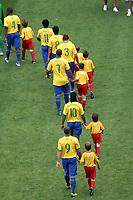 Photo: Chris Ratcliffe.<br /> Brazil v Ghana. Round 2, FIFA World Cup 2006. 27/06/2006.<br /> Brazil team enter the pitch.