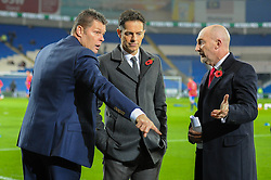 Bristol City manager, Steve Cotterill speaks with Ian Holloway before the game - Mandatory byline: Dougie Allward/JMP - 07966 386802 - 26/10/2015 - FOOTBALL - Cardiff City Stadium - Cardiff, Wales - Cardiff City v Bristol City - Sky Bet Championship