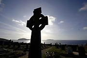 Cun Chaoin Cemetary near Coomeenole Beach on Slea Head on the Dingle Penninsula, County Kerry, Ireland.<br /> Photo: Don MacMonagle -macmonagle.com