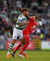 18 July 2019; Gilbert Koomson of SK Brann in action against Lee Grace of Shamrock Rovers during the UEFA Europa League First Qualifying Round 2nd Leg match between Shamrock Rovers and SK Brann at Tallaght Stadium in Dublin. Photo by Seb Daly/Sportsfile