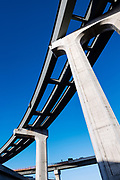 Construction of hi-way infrastructure, Orlando, Florida, USA.