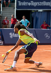 28.07.2014, Sportpark, Kitzbuehel, AUT, ATP World Tour, bet at home Cup 2014, Hauptrunde, Einzel, im Bild Dustin Brown (GER) // Dustin Brown of Germany in action during men's singles at the main round of bet at home Cup 2014 tennis tournament of the ATP World Tour at the Sportpark in Kitzbuehel, Austria on 2014/07/28. EXPA Pictures © 2014, PhotoCredit: EXPA/ Johann Groder
