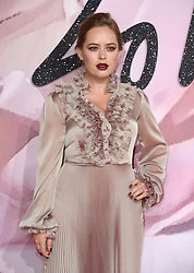 Tanya Burr attending The Fashion Awards 2016 at The Royal Albert Hall in London. <br /> <br /> Picture Credit Should Read: Doug Peters/ EMPICS Entertainment