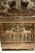 Sarcophagus of Anch-Hor with illustrations of daemons of the Netherworld. , 746-332 BC Memphis Granodiorite