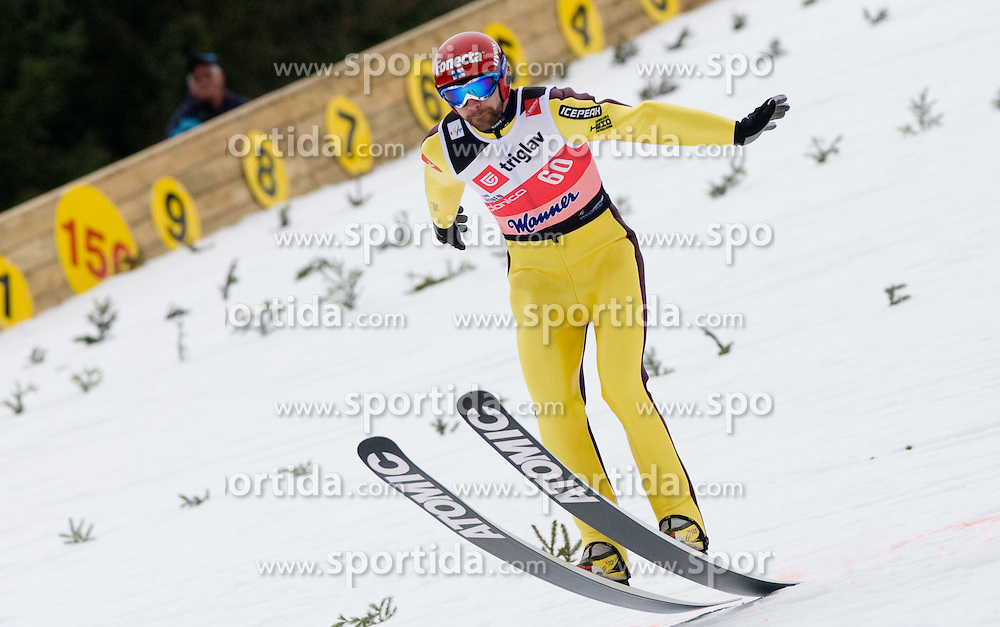 Janne Ahonen of Finland competes during Flying Hill Individual Qualifications at 1st day of FIS Ski Flying World Championsghips Planica 2010, on March 18, 2010, Planica, Slovenia.  (Photo by Vid Ponikvar / Sportida)