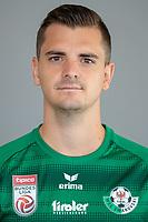 Download von www.picturedesk.com am 16.08.2019 (14:06). <br /> ABD0092_20190710 - WATTENS - ÖSTERREICH: Kevin Nitzlnader am Mittwoch, 10. Juli 2019, anl. eines Fototermins des Bundesliga-Fußball-Vereins WSG Swarovski Tirol in Wattens. - FOTO: APA/EXPA/JOHANN GRODER  _ - 20190710_PD2502