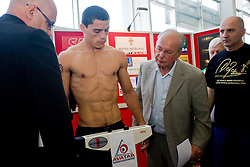 Argentina's challenger Rodolfo Ezequiel Martinez - Epi at official weighing 1 Day before IBF World Champion title fight, on April 8, 2010, in Avto Delta, Ljubljana, Slovenia.  (Photo by Vid Ponikvar / Sportida)