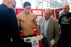Argentina's challenger Rodolfo Ezequiel Martinez - Epi at official weighing 1 Day before IBF World Champion title fight, on April 8, 2010, in Avto Delta, Ljubljana, Slovenia.  (Photo by Vid Ponikvar / Sportida)