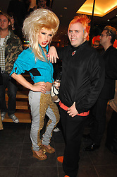 Left to right, JODIE HARSH and PEREZ HILTON at a party hosted by Mulberry to celebrate the publication of The Meaning of Sunglasses by Hadley Freeman held at Mulberry 41-42 New Bond Street, London on 14th February 2008.<br /><br />NON EXCLUSIVE - WORLD RIGHTS