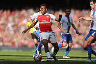 Alex Iwobi of Arsenal in action.  Barclays Premier league match, Arsenal v Crystal Palace at the Emirates Stadium in London on Sunday 17th April 2016.<br /> pic by John Patrick Fletcher, Andrew Orchard sports photography.