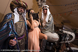 Every year, Nicola Martini of Mr. Martini Motorcycles comes up with a great theme, like this years Arabia tent at Motor Bike Expo. Verona, Italy. Thursday January 18, 2018. Photography ©2018 Michael Lichter.