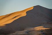 Kelso Dunes at sunset, Mojave National Preserve, near the town of Baker, in San Bernardino County, California, USA.