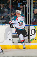 KELOWNA, CANADA - DECEMBER 30: Nolan Foote #29 of the Kelowna Rockets exists the penalty box against the Victoria Royals on December 30, 2016 at Prospera Place in Kelowna, British Columbia, Canada.  (Photo by Marissa Baecker/Shoot the Breeze)  *** Local Caption ***