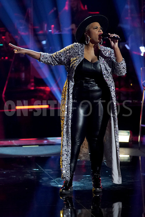 """THE VOICE  -- """"Knockout Rounds"""" Episode 2010 --  Pictured: Dana Monique -- (Photo by: Tyler Golden/NBC)"""