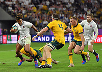 Rugby Union - 2019 Rugby World Cup - Quarter-Final: England vs. Australia<br /> <br /> England's Anthony Watson evades the tackle of Australia's Kurtley Beale, at Oita Stadium, Oita Prefecture.<br /> <br /> COLORSPORT/ASHLEY WESTERN