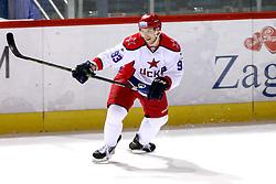 Artyom Sergeyev of CSKA Moscow before KHL League ice hockey match between KHL Medvescak Zagreb and CSKA Moscow, on November 16, 2015 in Dvorana Sportova, Zagreb, Croatia. (Photo By Matic Klansek Velej / Sportida)