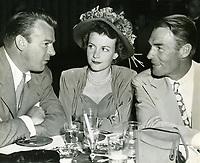 1952 Mr. & Mrs. Dennis O'Keefe and Randolph Scott at Ciro's Nightclub