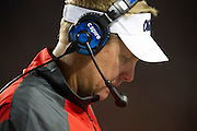 AUSTIN, TX - SEPTEMBER 14: Head coach Hugh Freeze of the Mississippi Rebels looks on against the Texas Longhorns on September 14, 2013 at Darrell K Royal-Texas Memorial Stadium in Austin, Texas.  (Photo by Cooper Neill/Getty Images) *** Local Caption *** Hugh Freeze