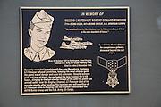 Memorial plaque to American serviceman killed in second world war, Rattlesden, Suffolk, England