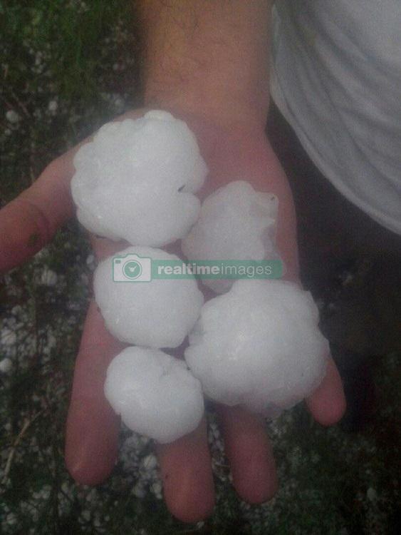 June 23, 2017 - Tatarstan, Russia - June 23, 2017. - Russia. A heavy hailstorm and snowfall near Kazan, Tatarstan. Photo: twitter.com/rustem_gareev (Credit Image: © Russian Look via ZUMA Wire)