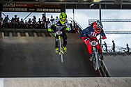 #187 (GARCIA Jared) USA at the 2018 UCI BMX Superscross World Cup in Saint-Quentin-En-Yvelines, France.