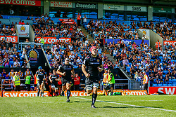 The Exeter Braves enter the field of play prior to kick off - Ryan Hiscott/JMP - 09/09/2018 - RUGBY - Sandy Park - Exeter, England - Exeter Braves v Bath United, Premiership Rugby Shield