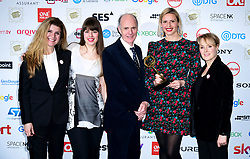 The cast and crew of the Bodyguard with the award for Best Crime Programme, with Connie Hyde (left) and Sally Dynevor (right) at the TRIC Awards 2019 50th Birthday Celebration held at the Grosvenor House Hotel, London.