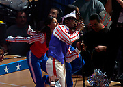 Andre 3000 of Outkast performs during the NBA All-Star Game pregame show at the Staples Center on Sunday, Feb. 15, 2004 in Los Angeles.